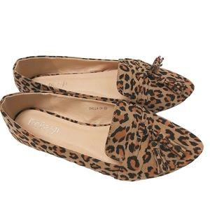 HOST PICK Animal Print Tassel Almond Toe Loafers